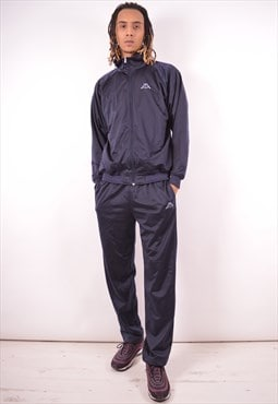 Kappa Mens Vintage Full Tracksuit Large Navy Blue 90s