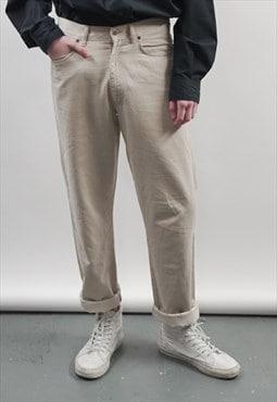 Vintage 90's Moschino beige jeans