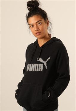 Vintage Puma Embroidered Spell Out Hoodie