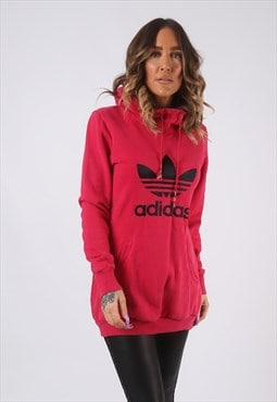 Sweatshirt Jumper ADIDAS Hooded Print Long UK 10 (GWBI)