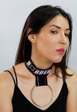 Big ring logo choker