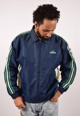 Vintage Adidas Rain Jacket Navy Blue