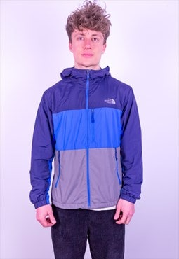 Vintage The North Face Striped Jacket in Blue