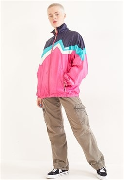 Vintage 90's Wind Breaker Jacket Pink