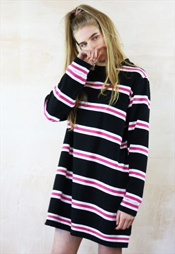 Oversized Mini Dress in allsorts stripe