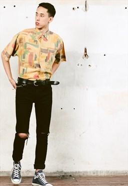 Vintage 90s Abstract Print Shirt
