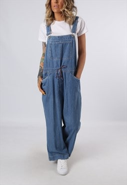 Denim Dungarees Vintage Wide Leg UK 14 (G3DM)