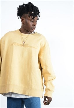 Eddie Bauer Sweatshirt In yellow with spell out logo