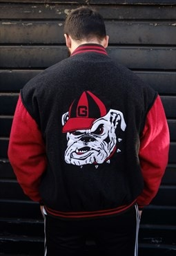 Vintage University of Georgia Bulldogs USA Varsity Jacket