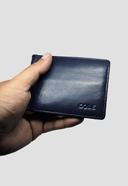 'Parth' Genuine Leather Wallet - Midnight Blue