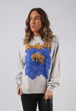 Sweatshirt Jumper Oversized KENTUCKY PRINT UK 14 (LKHM)