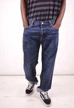 Levi's 501 Mens Vintage Jeans W36 L34 Blue 90s