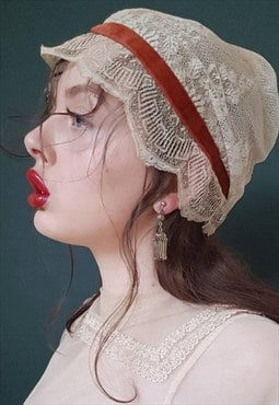Vintage 20s Solid Silver Tassel Earrings / Wedding