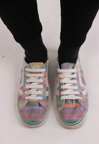VINTAGE VANS PATTERNED TRAINERS