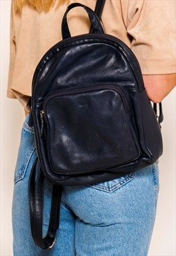 Vintage 90s Navy Mini Backpack