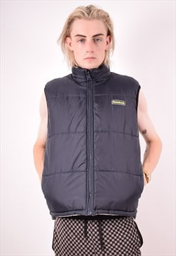 Reebok Mens Vintage Reversible Gilet Medium Black 90s