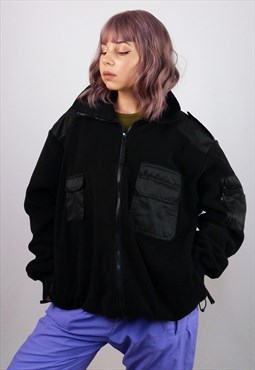 Vintage 90's Police Security Style Fleece Jacket