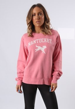 Sweatshirt Jumper Oversized NANTUCKET Logo UK 12 (EQ4W)
