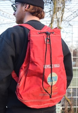 "Red Vintage Backpack Bag ""Beverly Hills"""