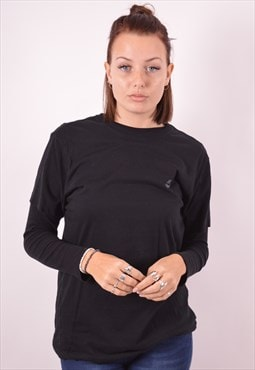 Timberland Womens Vintage T-Shirt Top Small Black 90s