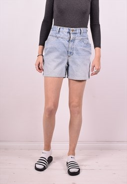 Womens Vintage Denim Shorts W28 Blue 90s