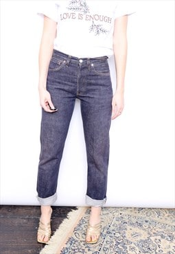 Vintage 90s Levi's 501 Blue High Waisted Jeans