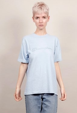 Vintage 90's Champion baby blue t-shirt