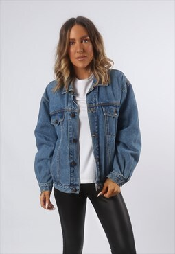 Denim Jacket Oversized Fitted FADE OUT Vintage UK 14 (F4K)