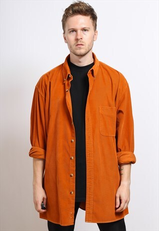 VINTAGE CORDUROY SHIRT ORANGE
