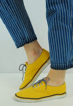 Vintage Sunshine Yellow Plimsoll Pumps