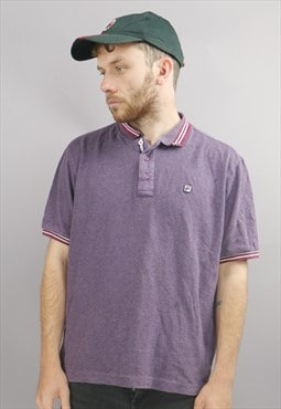 Vintage Fila Polo In Purple With Logo