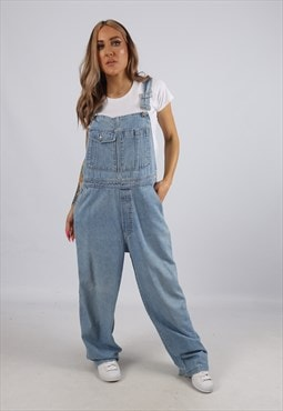 Vintage Denim Dungarees GAP Wide Leg UK 14 L (B3R)