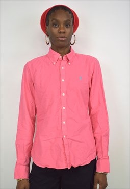 Vintage 90s Ralph Lauren Pink Button up Shirt