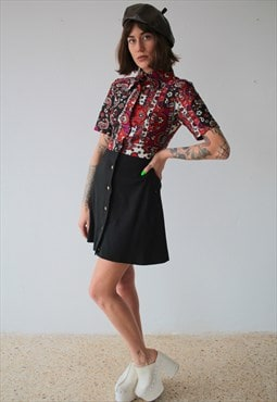 Vintage 60's Handmade Paisley Dress.