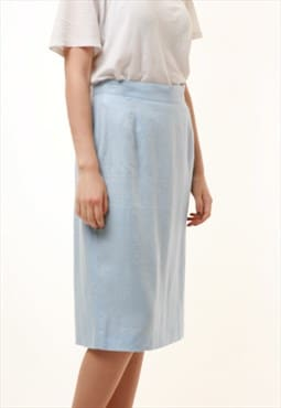 90s Vintage Kenzo Pencil Linen High Waisted Skirt 828