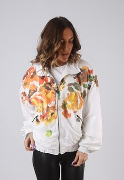 Bomber Shell Jacket Sportswear Oversized Floral  UK 12 (KCC)