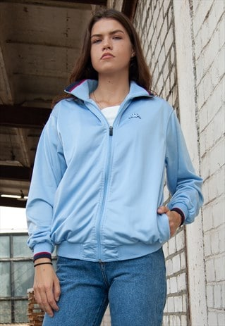 VINTAGE RETRO BLUE KAPPA SPORTS JACKET