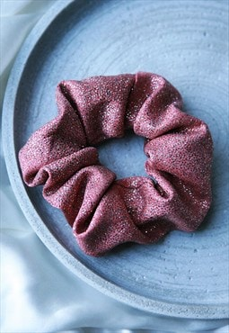 Pink glitter luxe hair scrunchie