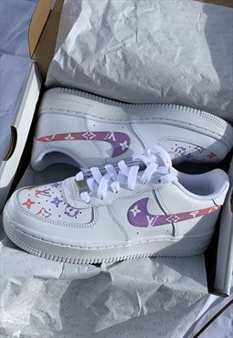 Air Force 1 LV Custom in Gradient Pink Purple