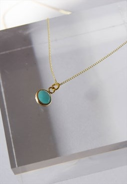 9ct gold amazonite necklace, amazonite stone necklace