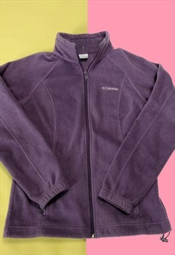 Vintage Purple Columbia Embroidered Spell Out Fleece