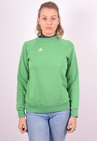 WOMENS VINTAGE SWEATSHIRT JUMPER MEDIUM GREEN 90S