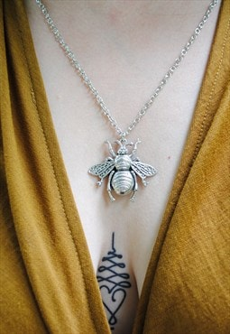 MoonChild Bee pendant necklace
