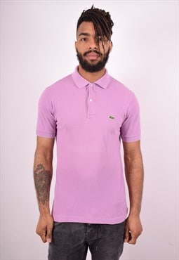Lacoste Mens Vintage Polo Shirt Small Purple 90s