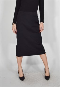 Fendi long black classic skirt