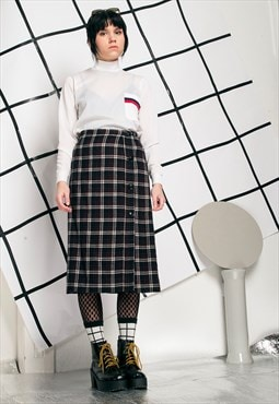 80s vintage plaid grunge kilt skirt