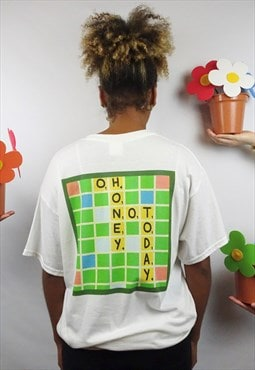 Scrabble graphic t-shirt in white