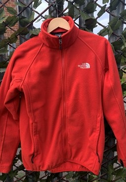 Vintage 90's The North Face Red Zip-Up Fleece M