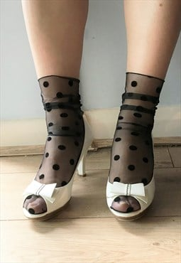 Spotty Sheer socks