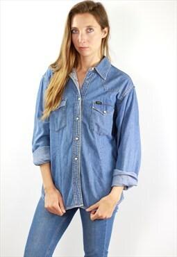 Lee Denim Shirt Lee Jean Shirt Vintage Shirt